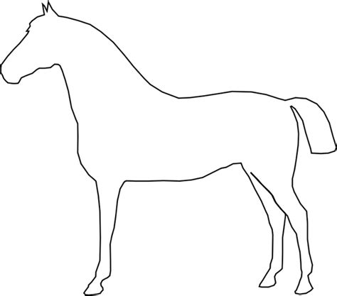simple horse free vector in open office drawing svg svg