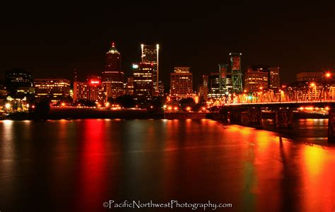 Portland City Lights Scott C Miller Pacific Northwest Lights In Portland Oregon