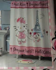 hello kitty fabric shower curtain hello kitty bonjour paris fabric shower curtain pink white
