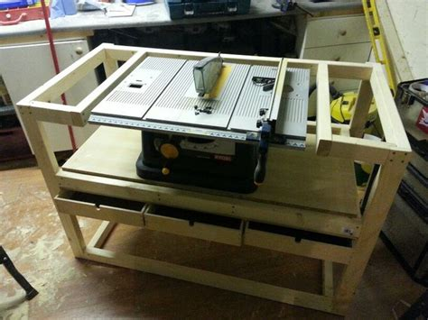 saw work bench table saw work bench workshop garage pinterest