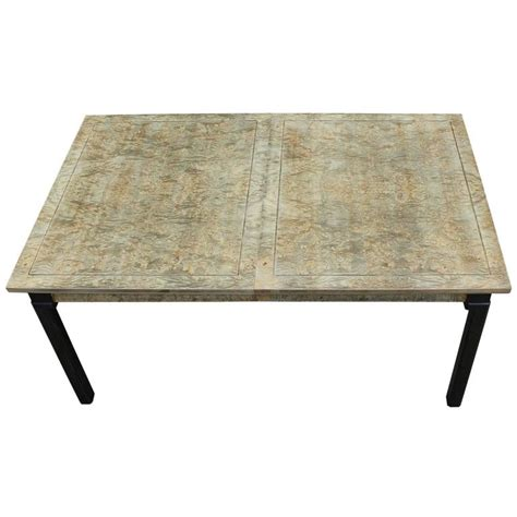 Two Tone Wood Dining Table Monumental Modern Two Tone Burl Wood Rectangular Dining Table For Sale At 1stdibs