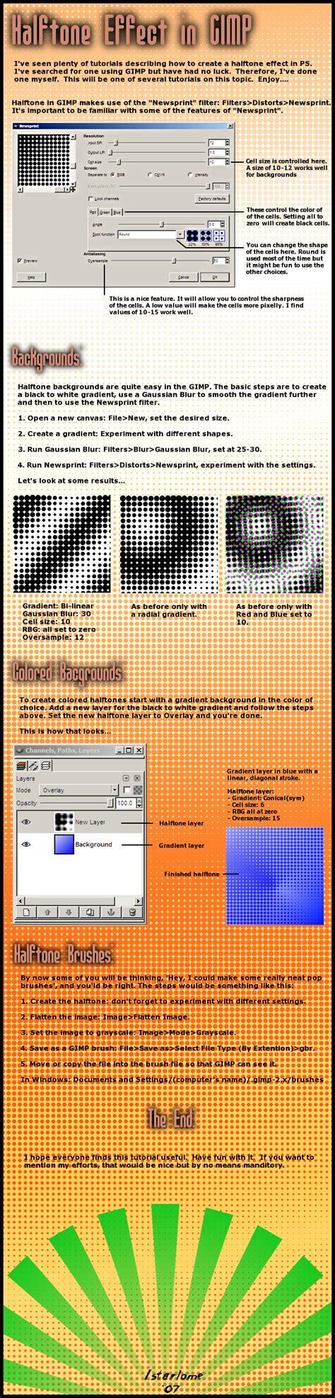 newsprint effect basics gimp by tgfcoder on deviantart halftone effect in gimp by istarlome on deviantart