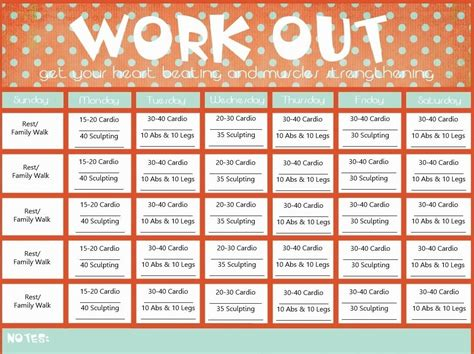 Blank Printable Workout Calendar Template Calendar Pinterest Workout Calendar And Workout Calendar Template