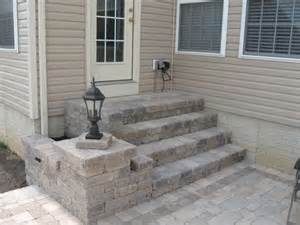 Installing Pavers In Backyard Handrail Installation Handrails For Steps