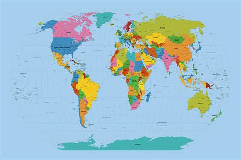 large world map map of the world to print