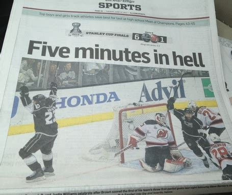 los angeles times sports section five minutes in hell the story of game 6 sbnation com