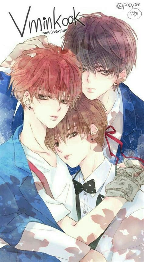 V Anime Bts by Vminkook Bts Bts Bts Fanart And Kpop
