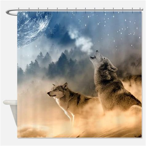 wolf shower curtain wolf shower curtains wolf fabric shower curtain liner