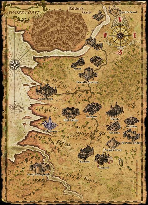 baldur s gate map baldur s gate maps on high definition for pen and paper