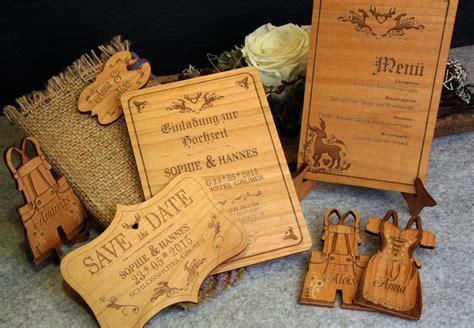 Hochzeitseinladung Auf Holz by