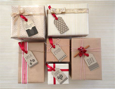 pack of eight gold christmas gift tags by paperknots