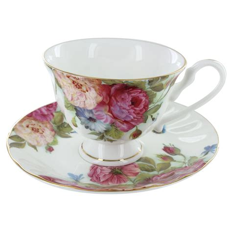 s bone china cup and saucer set of 4