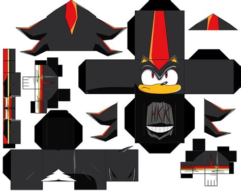 Shadow Papercraft - shadow the hedgehog by hollowkingking on deviantart