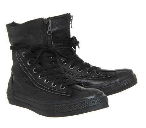 converse boots for converse ctas combat boot in black for lyst
