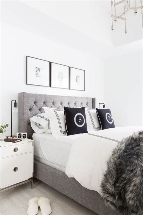 best 25 grey tufted headboard ideas on white