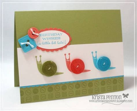 Handmade Cards With Buttons - button card card