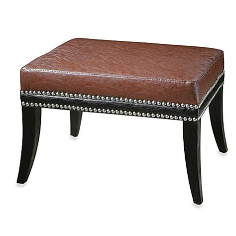 Ottoman Bed Bath And Beyond Buy Uttermost Detrick Wood Ottoman From Bed Bath Beyond