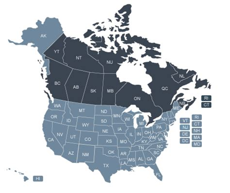 map of canada and the united states map of the united states and canada