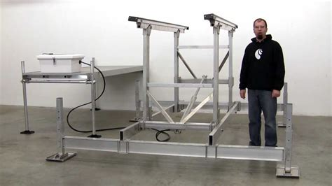 how to build a boat lift plans hydraulic boat lift by craftlander youtube