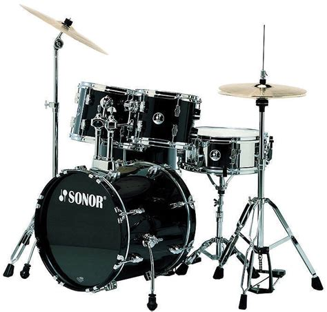 One Set 507 sonor 507 stage 1 5 drum kit with hardware black mcquade musical instruments