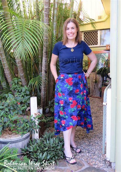 pattern emporium wrap skirt bohemian wrap skirt ladies pdf sewing pattern pattern