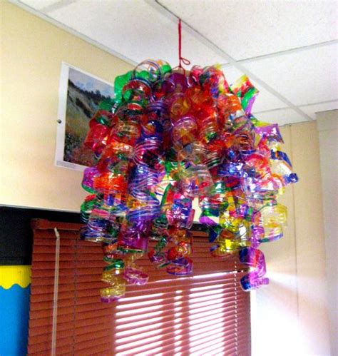 Recycled Water Bottle Chandelier I Saw A Water Bottle And Sharpie Chandelier At A Show And Can T Wait To Make It With