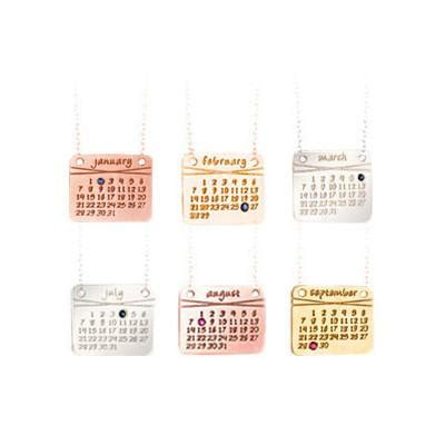 Calendar Necklace The Calendar Necklace In Sterling Silver Dalla Nonna Llc