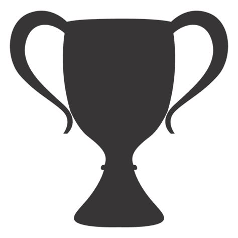 cup silhouette png classic trophy silhouette transparent png svg vector