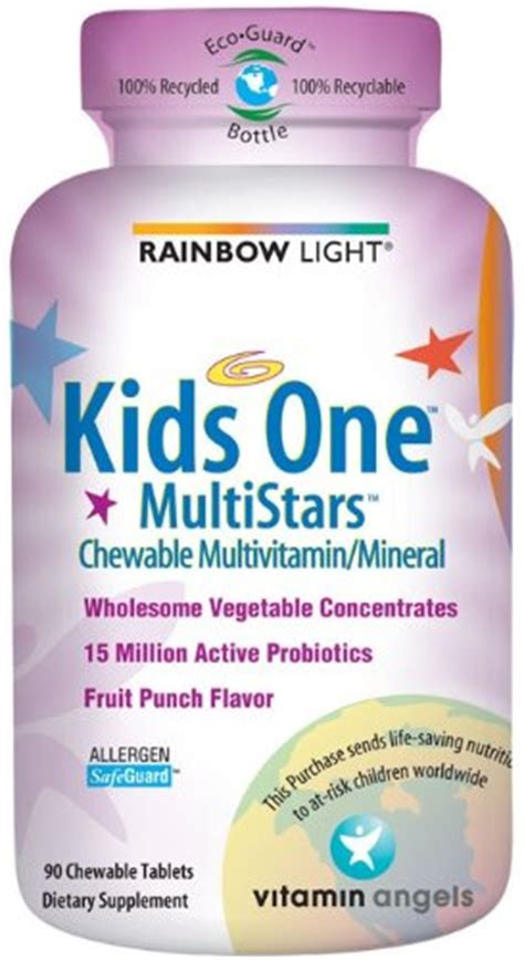 rainbow light kids one chewable tablets for children rainbow light kids one