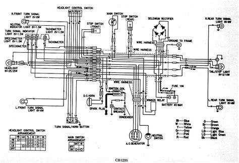honda cb125s chilton electrical wiring diagram circuit