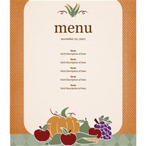 free editable menu templates free editable menu template sle helloalive