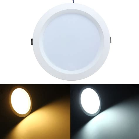 ceiling mounted down light 15w led flush mount recessed ceiling panel down light ac85