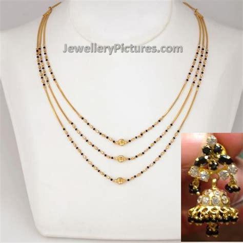 small black jewellery designs black chain models