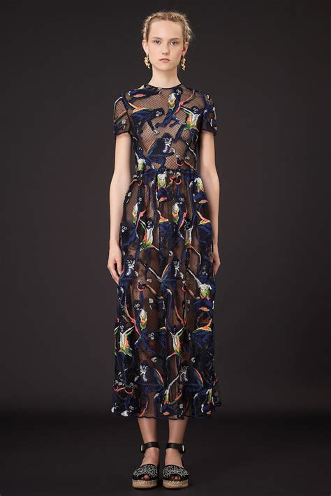 Top 9 Valentino Dresses by Amazing Embroidery On Valentino Resort 2015 Line Brown