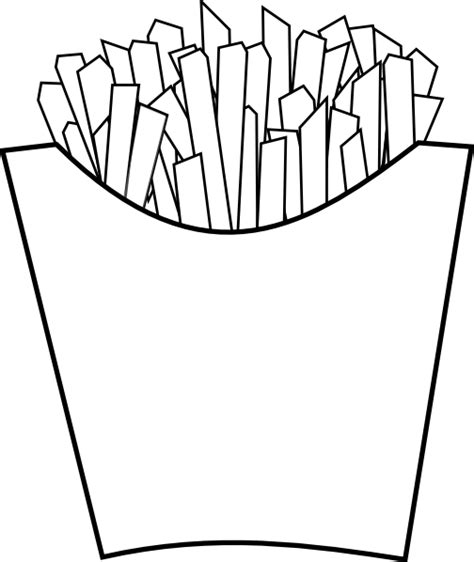 French Fries Line Art Clip Art At Clker Com Vector Clip Fries Coloring Page