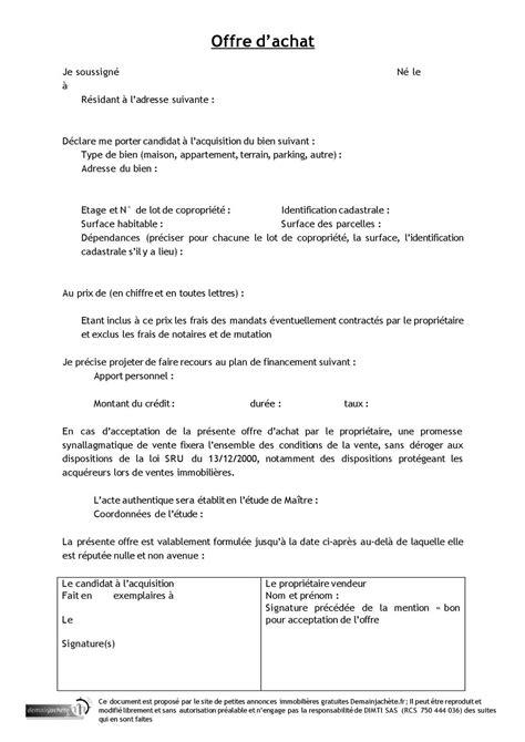 Exemple De Lettre Demande De Terrain Ebook Exemple Lettre Offre D Achat Terrain