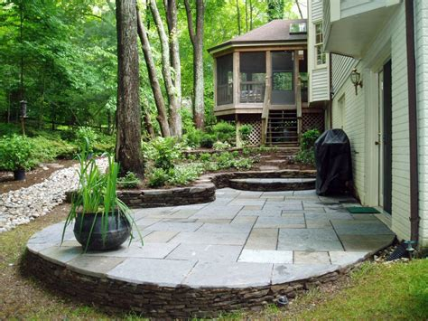 stone for backyard photos hgtv