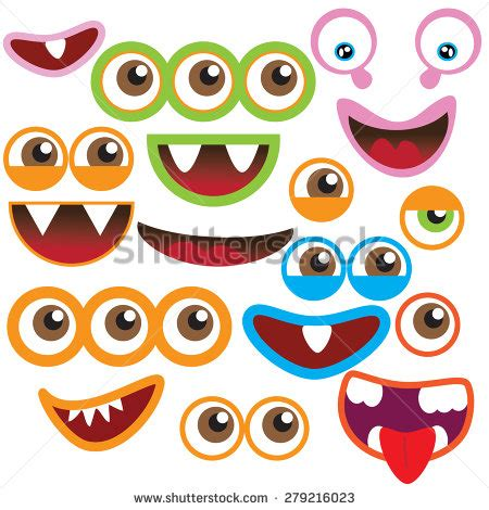 free printable monster eyes and mouth mouth stock photos images pictures shutterstock