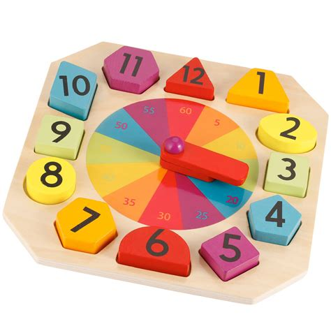 printable toy clock wooden clock and puzzle kmart