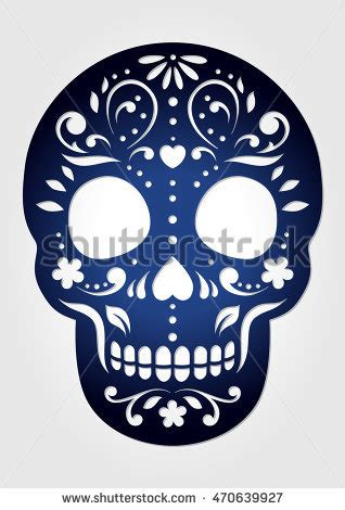 Calavera Stock Images Royalty Free Images Vectors Shutterstock Laser Cut Skull Template