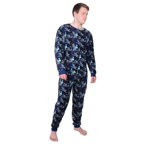 Sleeper For Mens Mens Fleece Onesie All In One Pyjamas Sleepsuit Pjs