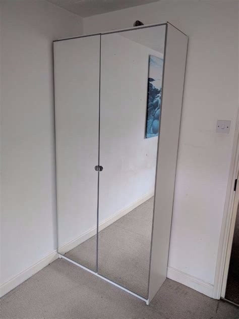 Ikea Wardrobe Pax Vikedal 201x100x38 With 2 Mirror Doors Pax Closet Doors