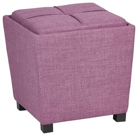 fabric ottoman with tray 2 piece ottoman set with tray top in milford dahlia fabric