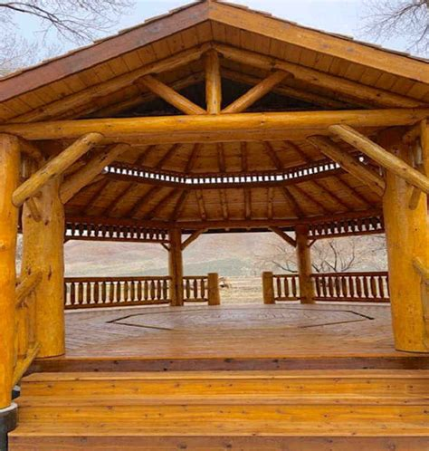 gazebo depot log octagon gazebo kit log gazebos