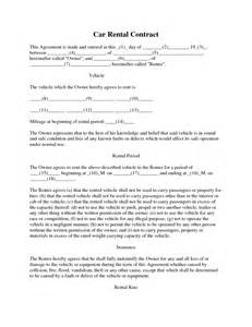 Make Car Rental Agreement Form Best Photos Of Car Rental Agreement Template Car Lease