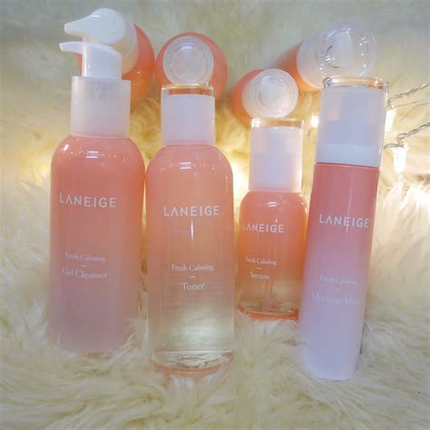 Laneige Fresh Calming Gel Clenaser review laneige fresh calming line flrncx dayre