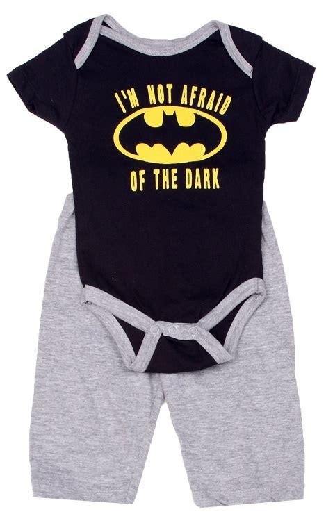 baby clothes s s world batman not afraid of the infant onesie set