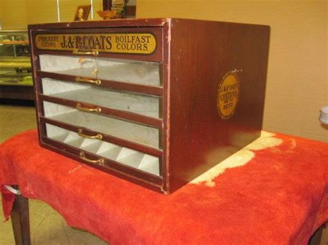 antique store cabinets for sale antique storedisplay j p coats 5 drawer spool cabinet