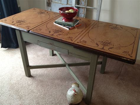 vintage enamel porcelain top kitchen table c vintage