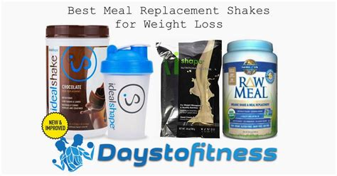 Top 10 Meal Replacement Bars by Best Meal Replacement Shakes Weight Loss Days To Fitness